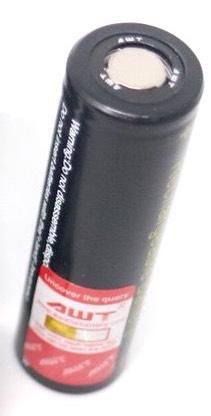 ถ่านชาร์จ Li-ion AWT 18650 3400mAh (black) 1 ก้อน ของแท้