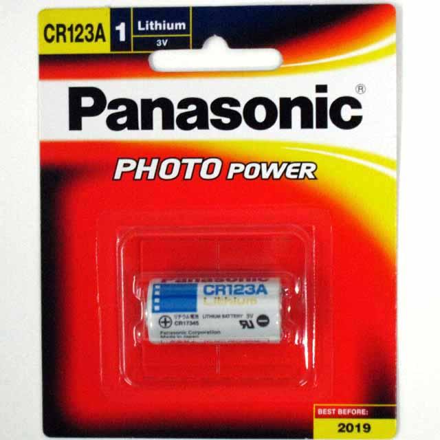 ถ่านPanasonic Cr 123A Lithium 3V ของแท้ จำนวน 1 ก้อน
