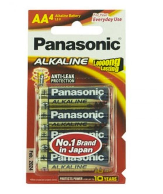 ถ่าน Panasonic Alkaline AA แพค 4 ก้อน จำนวน 12 แพค