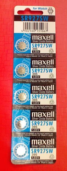 ถ่านกระดุม Maxell SR927SW 1แผง จำนวน 5 ก้อน