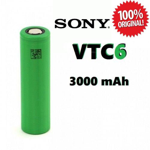 ถ่านชาร์จ Sony 18650 VTC6 3.7V 3000 mAh 20A 1 ก้อน ของแท้