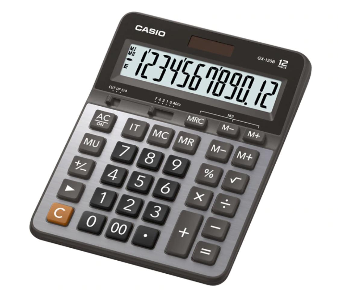 เครื่องคิดเลข Caio GX-120B สีเงิน ของแท้