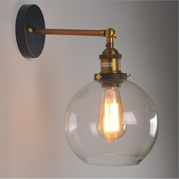 โคมไฟติดผนัง โคมไฟติดระเบียง แก้วทรงกลม 25CM