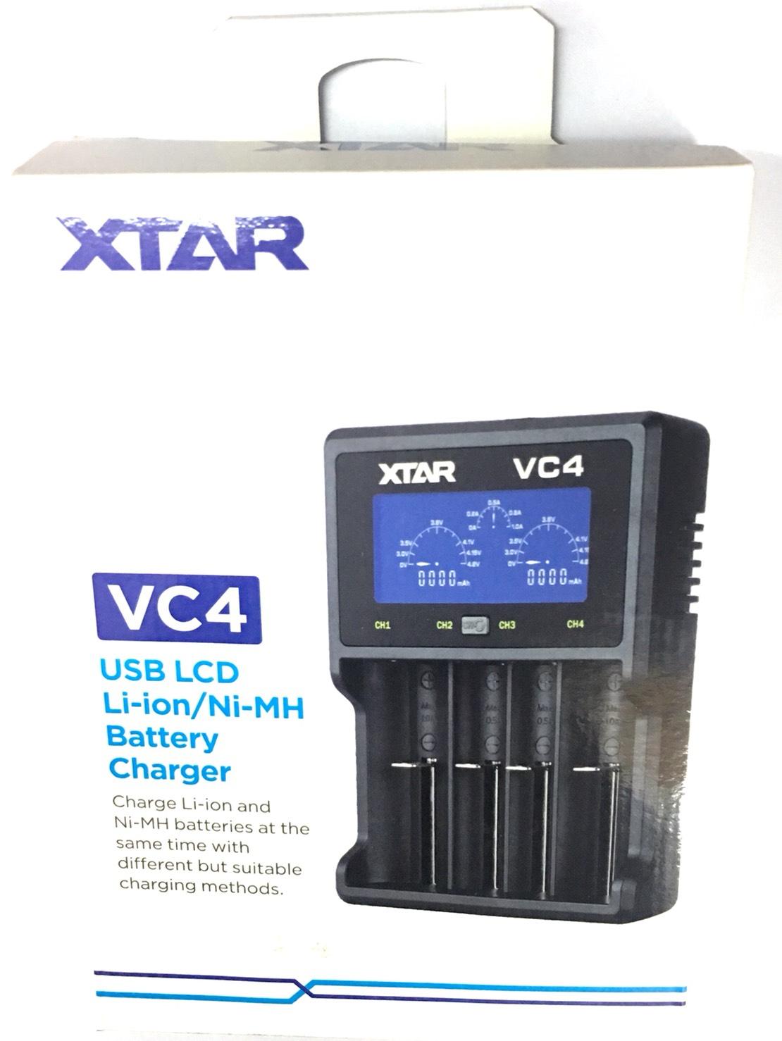 เครื่องชาร์จ XTAR VC4 USB NiMH / Li-ion BATTERY LCD Charger