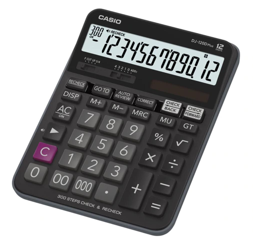 เครื่องคิดเลข Casio DJ-120D PLUS สีดำ ของแท้