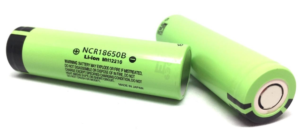 ถ่านชาร์จ Panasonic 18650 ก้อนสีเขียว ความจุ 34000 mAh แพค 2 ก้อน แถม กล่องใส่ถ่าน