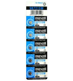 ถ่านกระดุม Maxell SR721SW 1แผง จำนวน 5 ก้อน