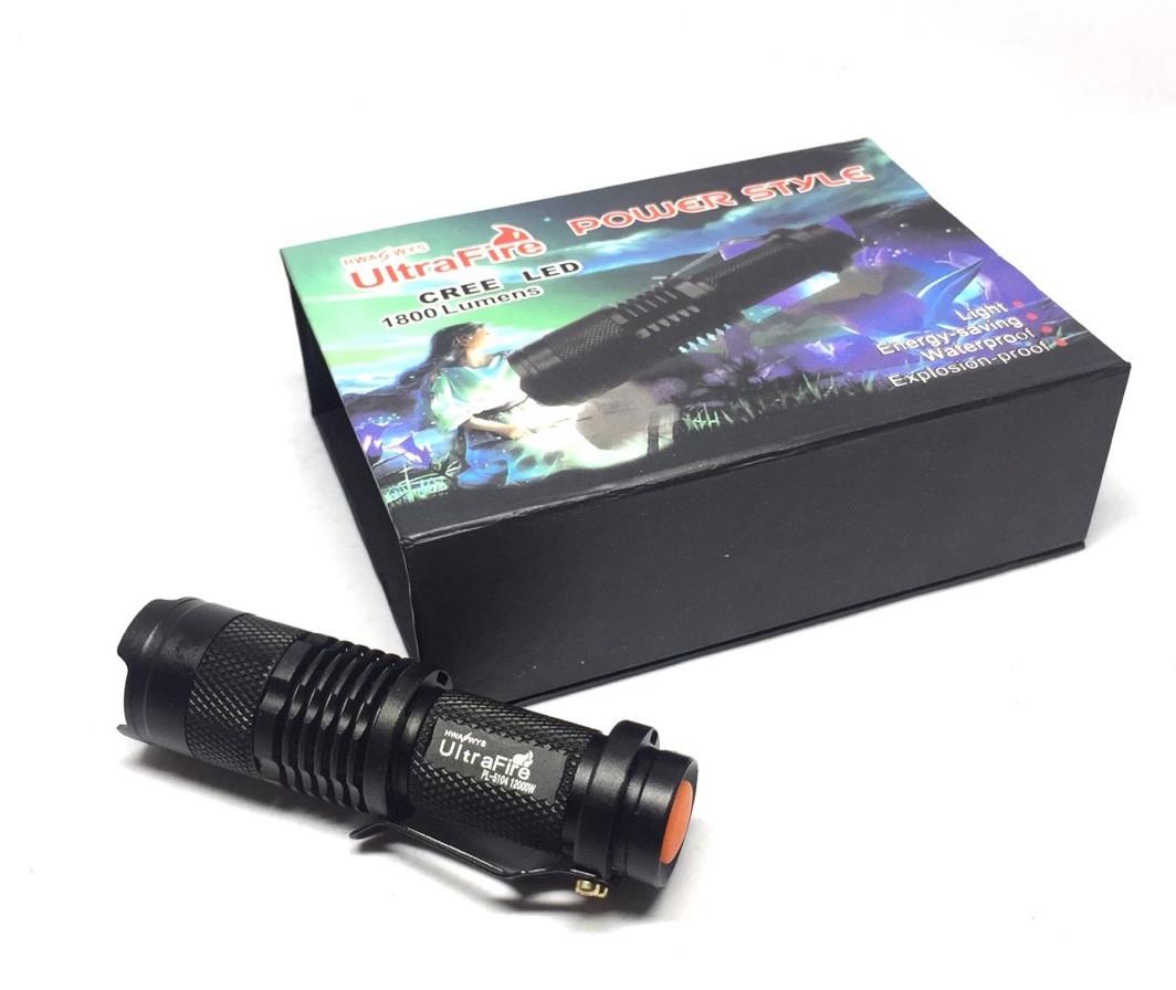 ชุด UltraFire ไฟฉายสว่างมาก CREE LED Q5 รุ่นถ่าน AA