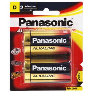 ถ่าน Panasonic Alkaline ขนาด D 1.5V แพค 2 ก้อน จำนวน 6 แพค