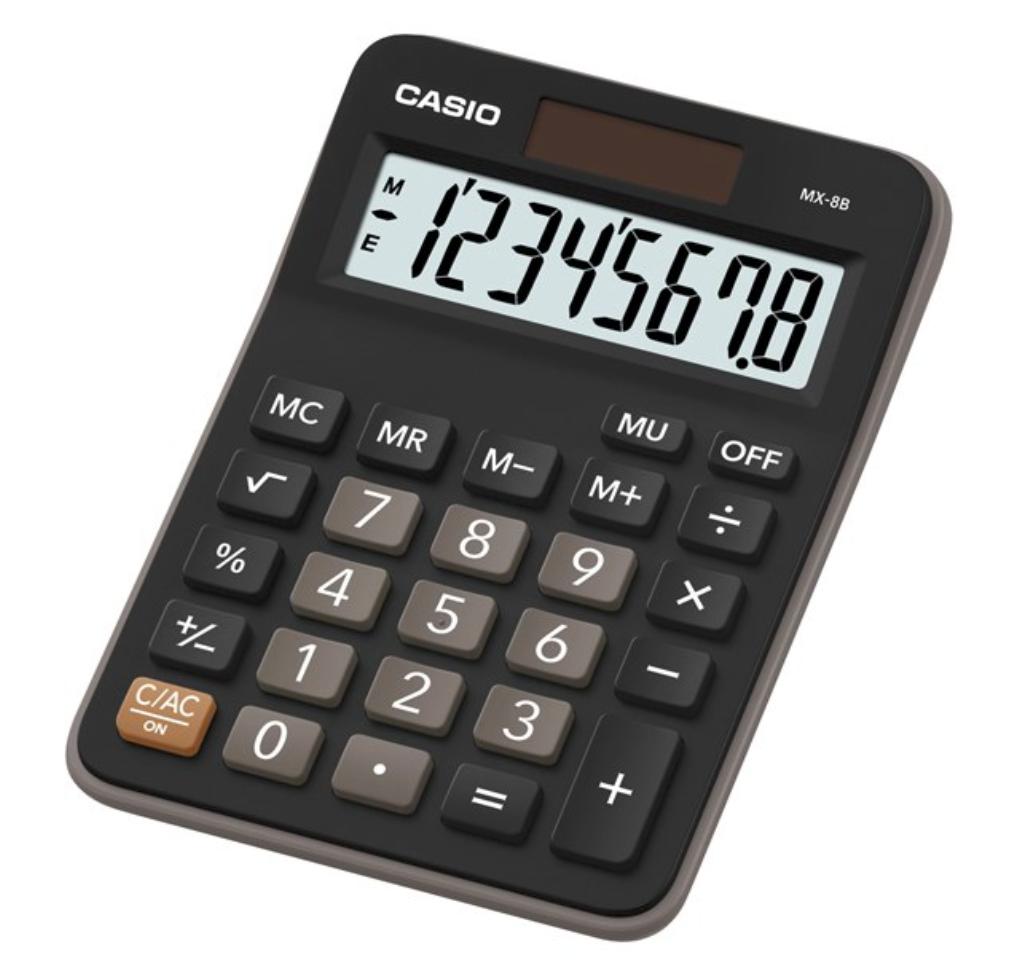 เครื่องคิดเลข Casio MX-8B สีดำ ของแท้
