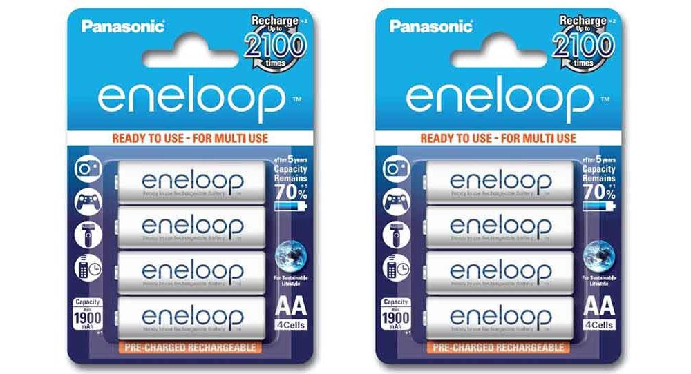 ถ่านชาร์จ Panasonic Eneloop AA 8 ก้อน แพคกระดาษ Made in Japan ผลิตรุ่นปี 2017