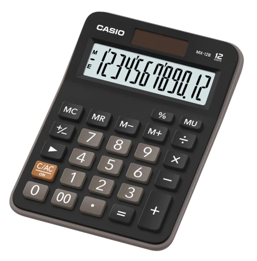เครื่องคิดเลข Casio MX-12B สีดำ ของแท้