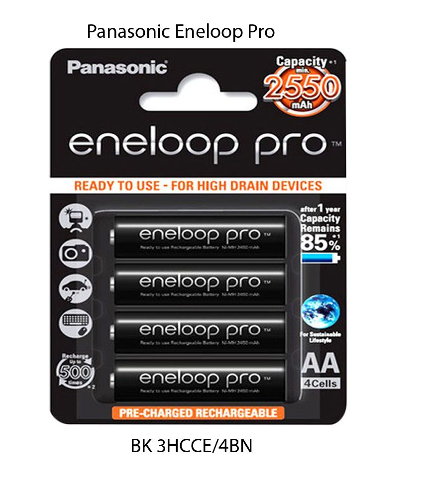 ถ่านชาร์จ Panasonic Eneloop Pro ไซส์ AA 2550mAh 4 ก้อน ของแท้
