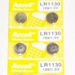 ถ่านกระดุม Accell LR1130 1.5V จำนวน 10 ก้อน/แผง