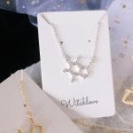 สร้อยโมเลกุล กาแฟ ไวน์ Molecule Necklace