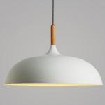 โคมไฟห้อยเพดานนอร์ดิกหัวไม้ 45cm White
