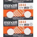 ถ่านกระดุม Maxell LR 44 1แผง จำนวน 10 ก้อน