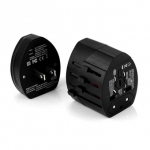 Universal Adapter แยก 2 ชิ้น พร้อม USB 2 ช่อง สีดำ