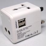 Travel Adapter 2USB สีขาว output 1A