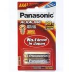 ถ่าน Panasonic Alkaline AAA แพค 2ก้อน จำนวน 12 แพค/กล่อง