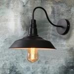 โคมไฟติดผนังสีดำ Loft American