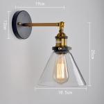 โคมไฟติดผนัง โคมไฟติดระเบียง แก้ว 18.5CM