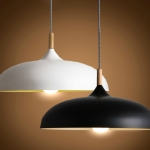 โคมไฟห้อยเพดานนอร์ดิกหัวไม้ 45cm
