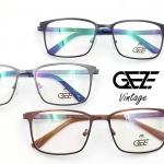 กรอบแว่นตาวินเทจ โลหะ น้ำหนักเบา ใส่สบาย GEZE METAL Vintage ตัดเลนส์สายตาใส่ได้ทุกชนิด