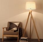 โคมไฟตั้งพื้นขาไม้ 3 ขา Modern minimalist