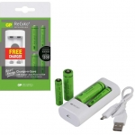 ชุดชาร์จ GP Recyko USB U211 with 2 ReCyko+ AA and 2 ReCyko+ AAA
