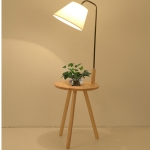 โคมไฟตั้งพื้นขาไม้ 3 ขา Modern minimalist มีโต๊ะกลม