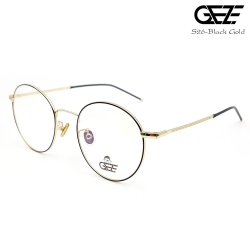 แว่นตาทรงกลม โลหะ Vintage น้ำหนักเบา ใส่สบาย GEZE รุ่น S26-BLACK GOLD อายุการใช้งานยาวนาน ด้วยโลหะพิเศษ