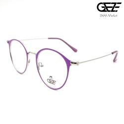 แว่นตาทรงกลม โลหะ Vintage น้ำหนักเบา ใส่สบาย GEZE รุ่น S99 สีม่วง อายุการใช้งานยาวนาน ด้วยโลหะพิเศษ