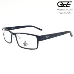 แว่นตาผู้ชาย โลหะ Magnesium น้ำหนักเบา ใส่สบาย GEZE SABER รุ่น F223 สีดำ อายุการใช้งานยาวนาน ด้วยโลหะ Aluminium Magnesium Alloy