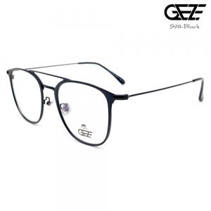 แว่นตาผู้ชาย โลหะ Vintage น้ำหนักเบา ใส่สบาย GEZE รุ่น S98-BLACK อายุการใช้งานยาวนาน ด้วยโลหะพิเศษ