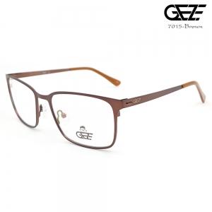 แว่นตาผู้ชาย โลหะ Vintage น้ำหนักเบา ใส่สบาย GEZE รุ่น 7015 สีน้ำตาล อายุการใช้งานยาวนาน ด้วยโลหะพิเศษ ขาสปริง