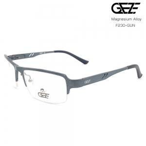 แว่นตาผู้ชาย โลหะ Magnesium น้ำหนักเบา ใส่สบาย GEZE SABER รุ่น F230 สีเทาเข้ม อายุการใช้งานยาวนาน ด้วยโลหะ Aluminium Magnesium Alloy
