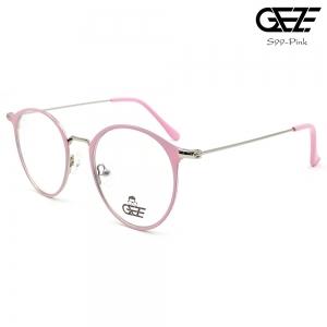 แว่นตาทรงกลม โลหะ Vintage น้ำหนักเบา ใส่สบาย GEZE รุ่น S99 สีชมพู อายุการใช้งานยาวนาน ด้วยโลหะพิเศษ