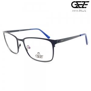 แว่นตาผู้ชาย โลหะ Vintage น้ำหนักเบา ใส่สบาย GEZE รุ่น 7015 สีดำ อายุการใช้งานยาวนาน ด้วยโลหะพิเศษ ขาสปริง