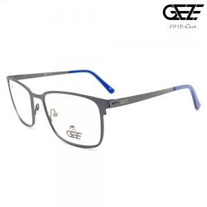 แว่นตาผู้ชาย โลหะ Vintage น้ำหนักเบา ใส่สบาย GEZE รุ่น 7015 สีเทาเข้ม อายุการใช้งานยาวนาน ด้วยโลหะพิเศษ ขาสปริง