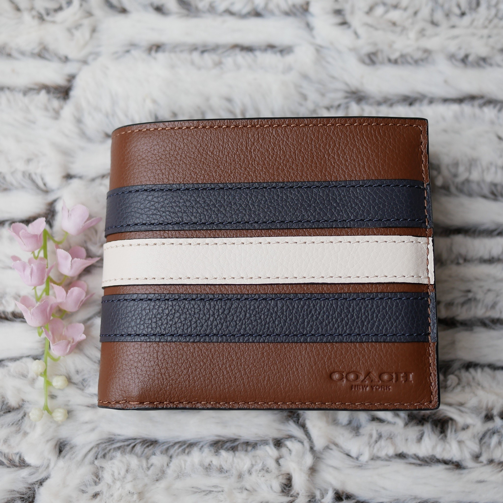 f926a99fa971 3-IN-1 WALLET WITH VARSITY STRIPE (COACH F24649) - Little costume ...